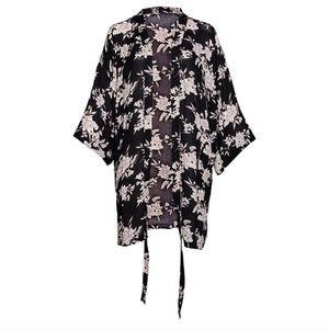 Spiritual Gangster Floral Tie-Front Kimono